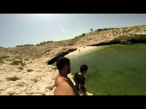GoPro HERO3+ in Sultanate of Oman Free Diving and Cliff jumps Slow Motion 1080p