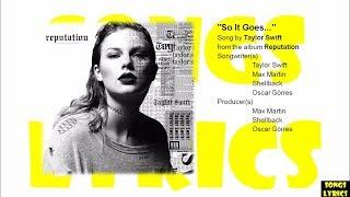 So It Goes (Taylor Swift) Lyrics (Reputation) Album