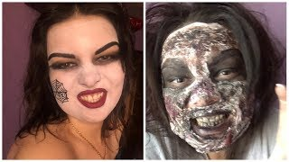 Макияж на хеллоуин Ведьма и Зомби🧟♀️