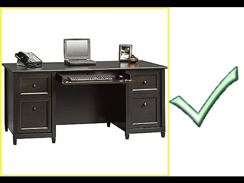 sauder edge water executive desk youtube