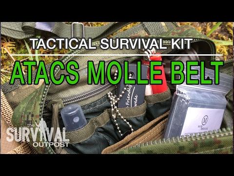 Tactical Survival Kit: A-TACS MOLLE Belt Review