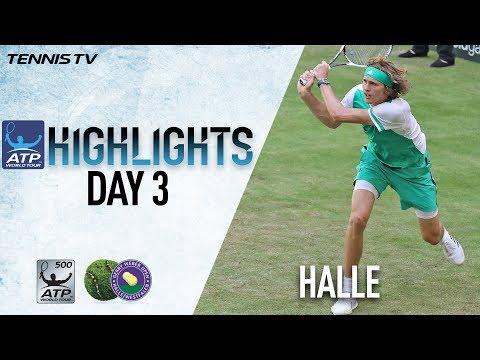 Zverev Wins, Thiem Falls in Halle Wednesday Highlights