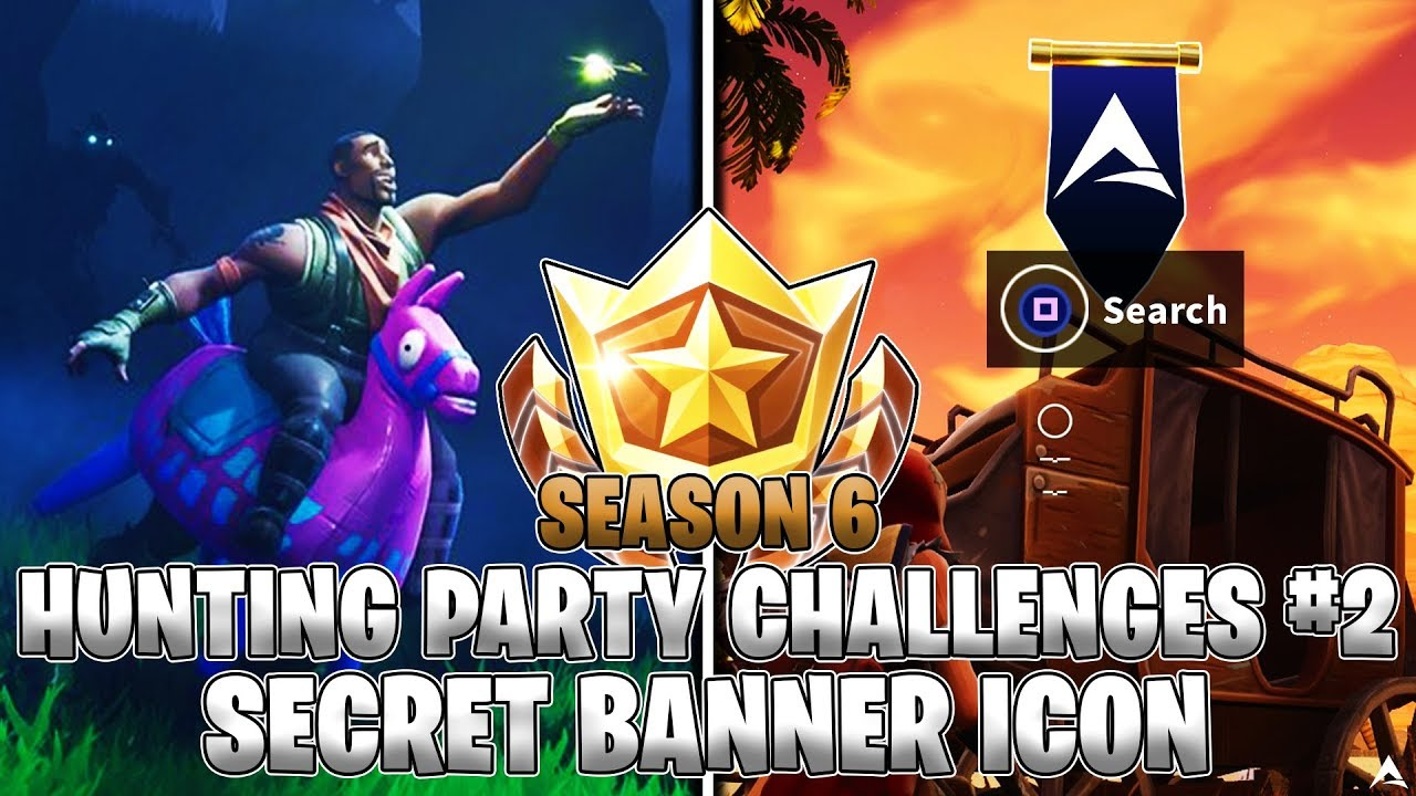 Secret Banner Icon Location Week 2 Hunting Party Challenges