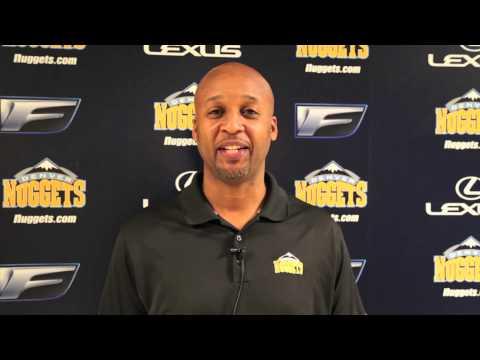 Regis University - Nuggets Coach Brian Shaw Congratulates Coach Porter