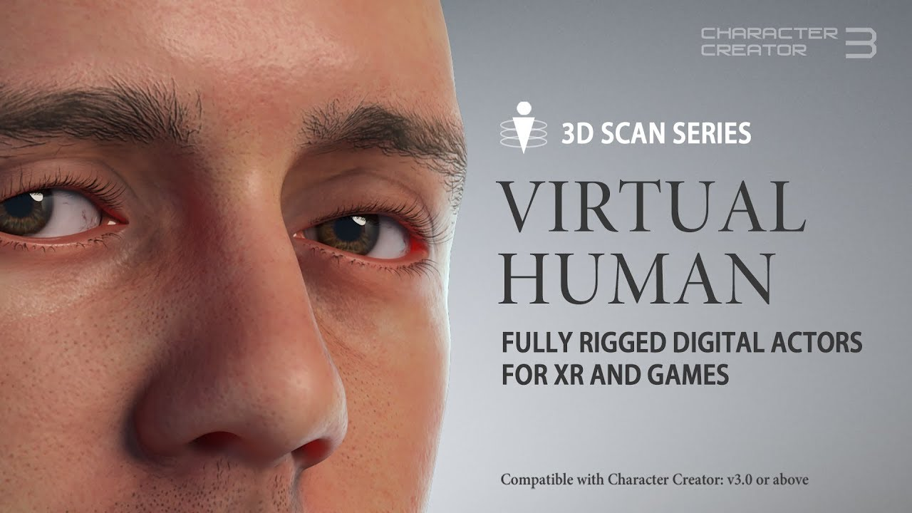 Character Creator 3 - Content Pack: 3D Scan Series - Virtual Human