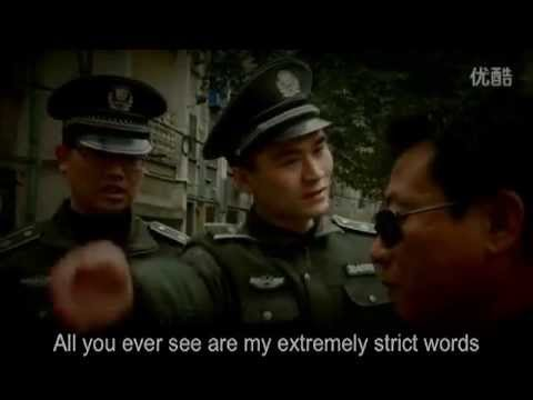 Chinese urban law enforcement officer (chengguan) makes ad to elicit public sympathy
