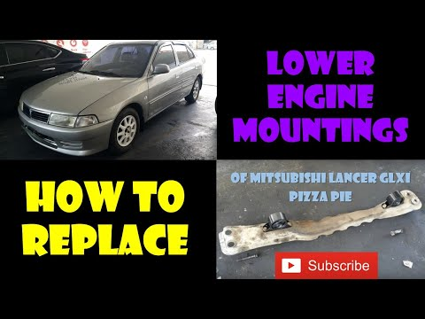 How to Replace the  Engine Mounting (Engine Support) of Mitsubishi Lancer GLXI, Pizza Pie