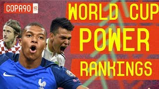 Top 10 Best Players of World Cup 2018 | COPA90 Power Rankings