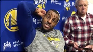 "Andre Iguodala with updates on his injury: ""I"
