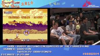 Summer Games Done Quick 2014 - Part 80 - Bubsy In Claws Encounters Of The Furred Kind