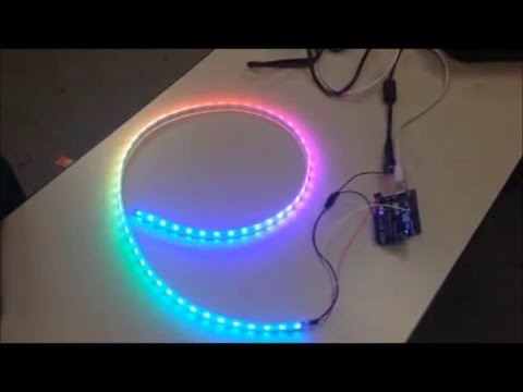 adafruit neopixel digital rgb led strip arduino uno youtube. Black Bedroom Furniture Sets. Home Design Ideas