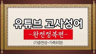 김영수의 유튜브 고사성어 (완전정복편) 가중연성~가축외양