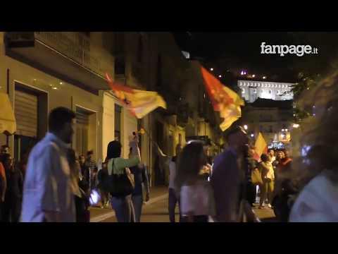 Benevento-Carpi, giallorossi in serie A: in città esplode la gioia