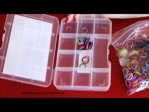 Rainbow Loom Rubber Band Haul - Dollar Store Rubber Band Storage Bracelets Rings Charms Twistz Bandz