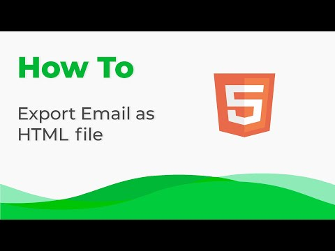 How To Export Your Email As HTML File With Stripo