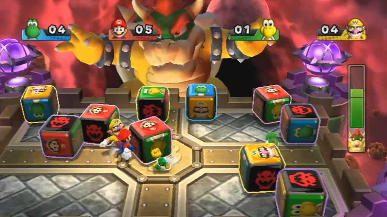Mario Party 9 Boss Battle Bowser S Block Battle Youtube