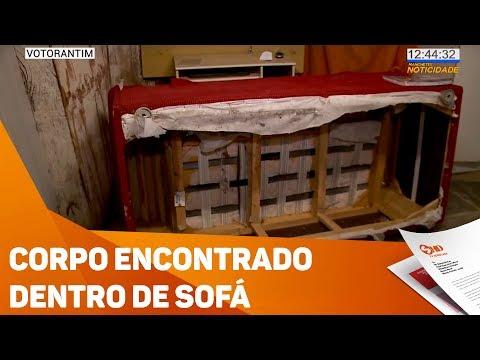Corpo de mulher foi encontrado dentro de sofá - TV SOROCABA/SBT