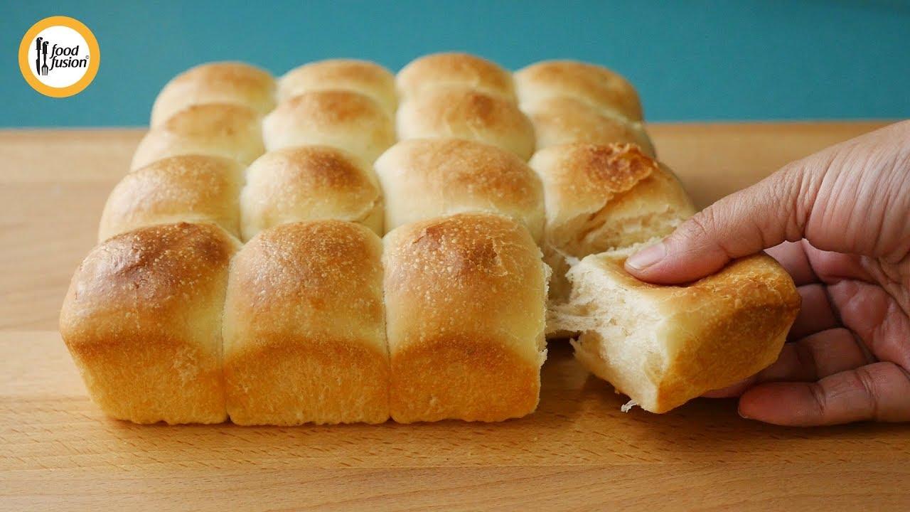 Eggless Pav bread buns Recipe By Food Fusion