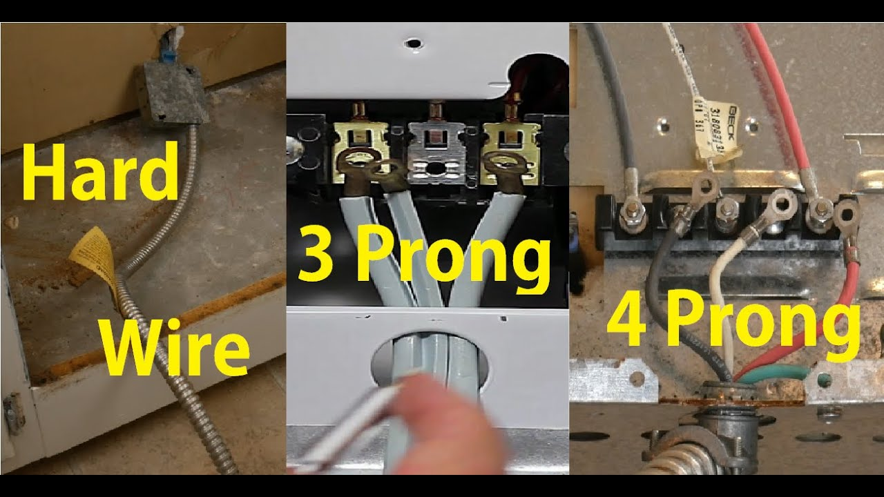 How To Install Stove Range Cord 3 or 4 Prong - YouTubeYouTube