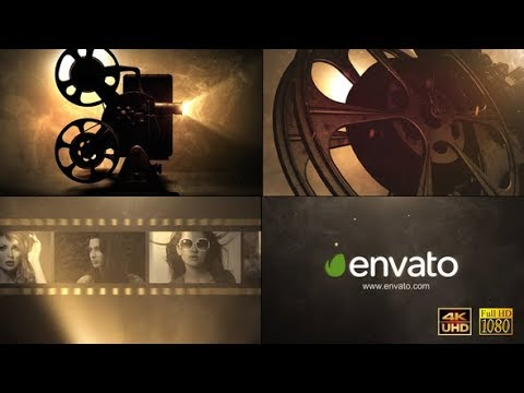 After Effects Template: Cinema Projector Logo