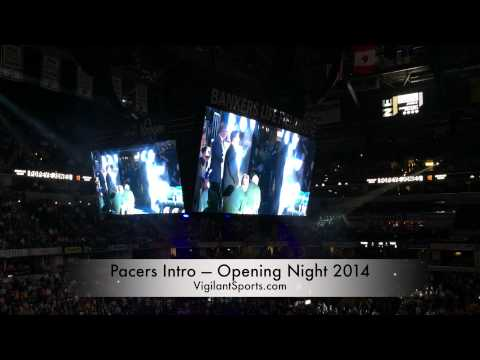 Pacers Intro — Opening Night 2014