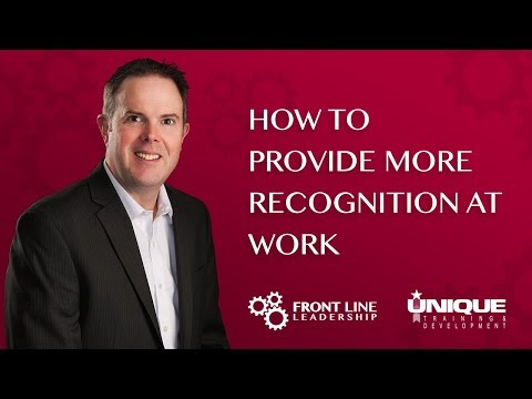 How To Provide More Recognition At Work