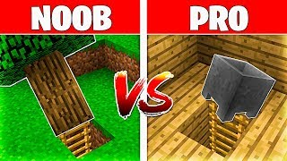 Minecraft NOOB vs PRO: ENTRADAS SECRETAS en MINECRAFT 😱