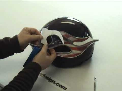 Helmet Graphic And Decal Installation Instructions YouTube - Helmet custom vinyl stickers