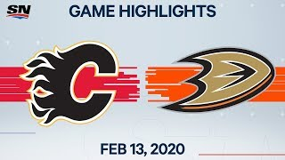 Nhl Highlights | Flames Vs. Ducks – Feb. 13, 2020