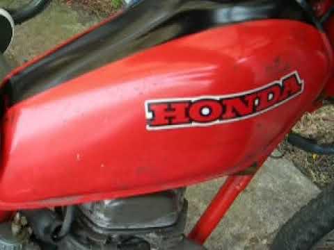 HONDA XL50S(1980) レストア レーサー仕様を公道仕様に
