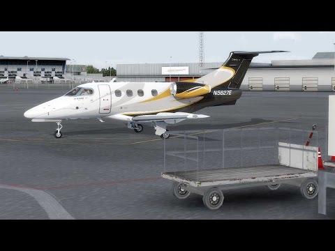 Carenado Embraer E50P Phenom 100 v2 - Startup - autopilot - landing 1080p