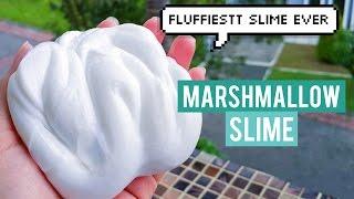 DIY FLUFFIESSSTT MARSHMALLOW SLIME EVER!! W/O SHAVING CREAM