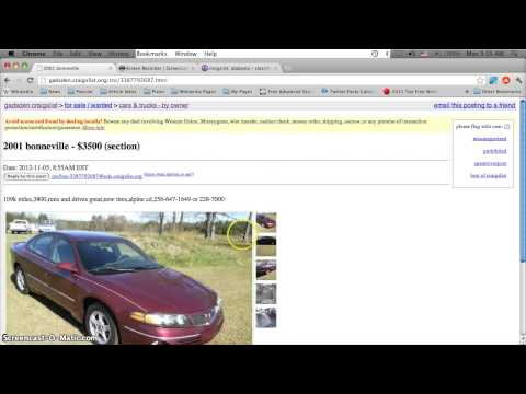 Craigslist Gadsden Alabama Used Cars Online - For Sale By Owner Classifieds In 2012