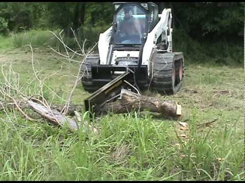 Skid Steer Tree Trimmer and Wood Splitter  YouTube