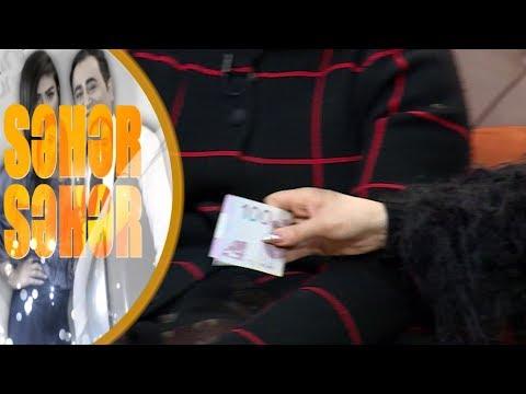 Şəbnəm Tovuzlu sovqat üçün 100 manat ödədi - Seher-Seher