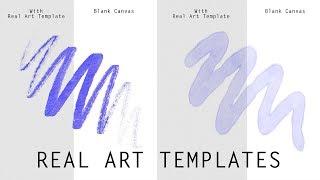 Real Art Templates for Digital Art (Tutorial)