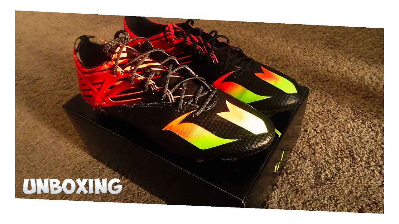 a76d5d331910 New Messi Boots Unboxing: Adidas Messi FG/AG Black/Solar Green/Red 15.2