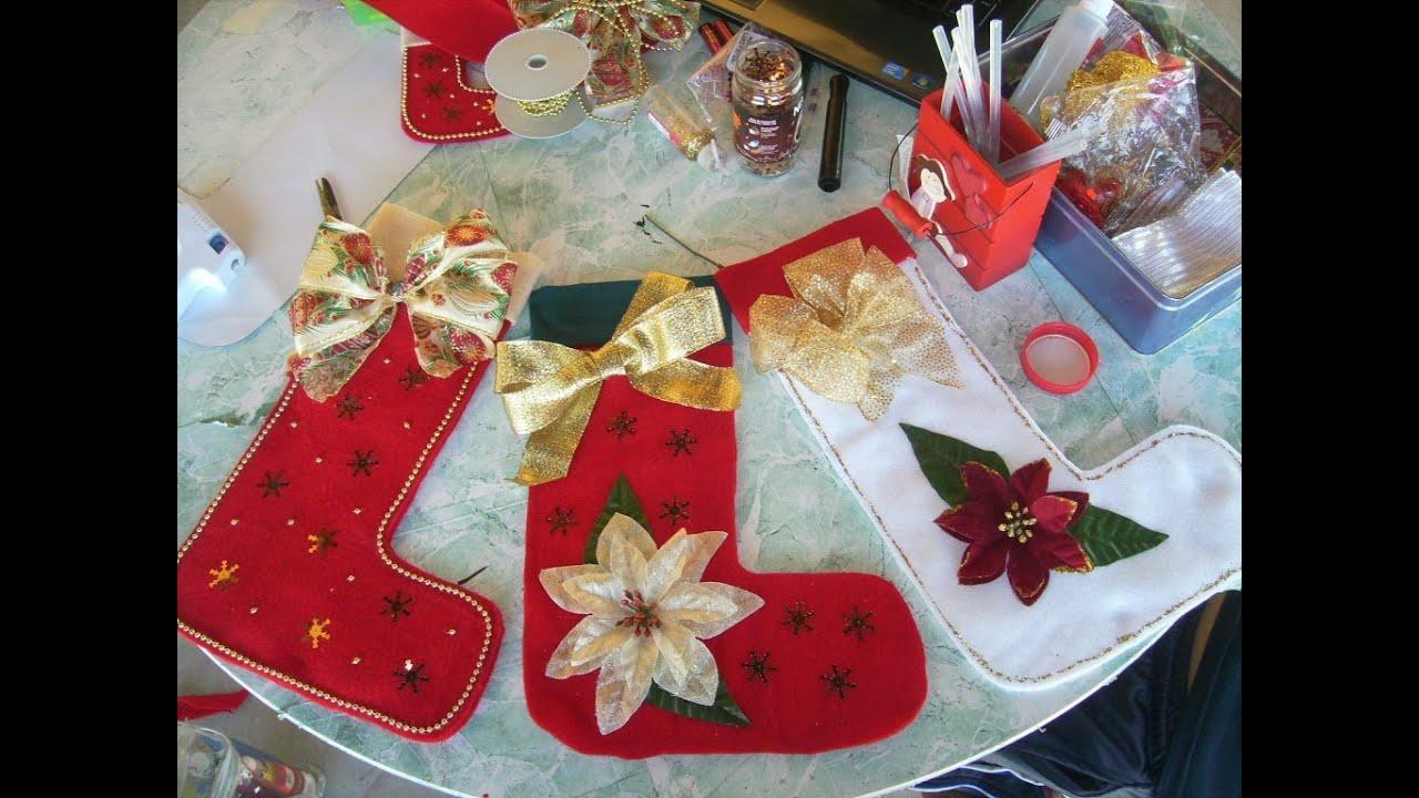 Bota navide a fieltro manualidades navide as - Crear christmas de navidad ...