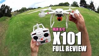 mJX X101 - Full Review - UnBox, Inspection, Setup, Flight Test, Pros & Cons