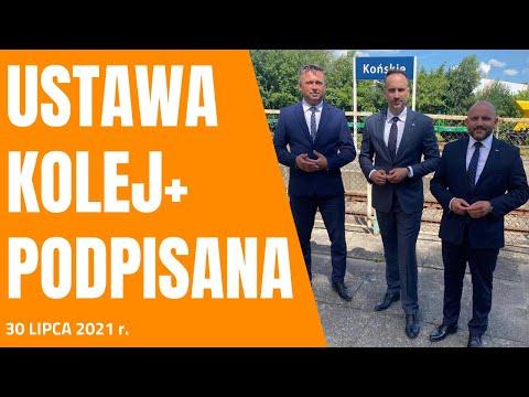Stacja kolejowa Końskie. Tu Prezydent Andrzej Duda podpisał ustawę Kolej+