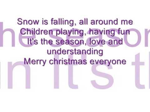 *karaoke*Merry Christmas everyone by shakin stevens (2008)