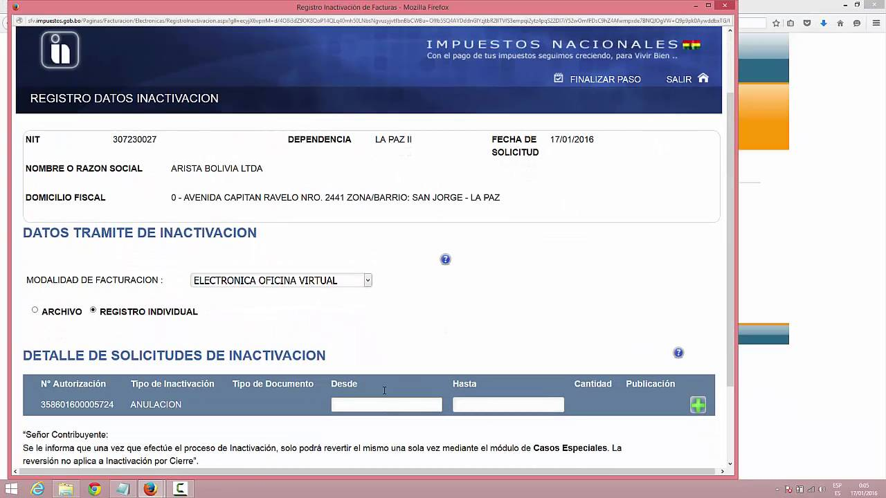 07 anulacion facturas oficina virtual youtube for Oficina virtual de fpe
