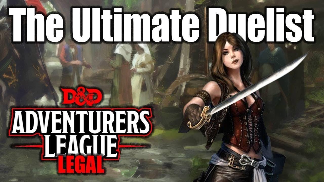 Ultimate Duelist Adventurers League 5e D Amp D Character