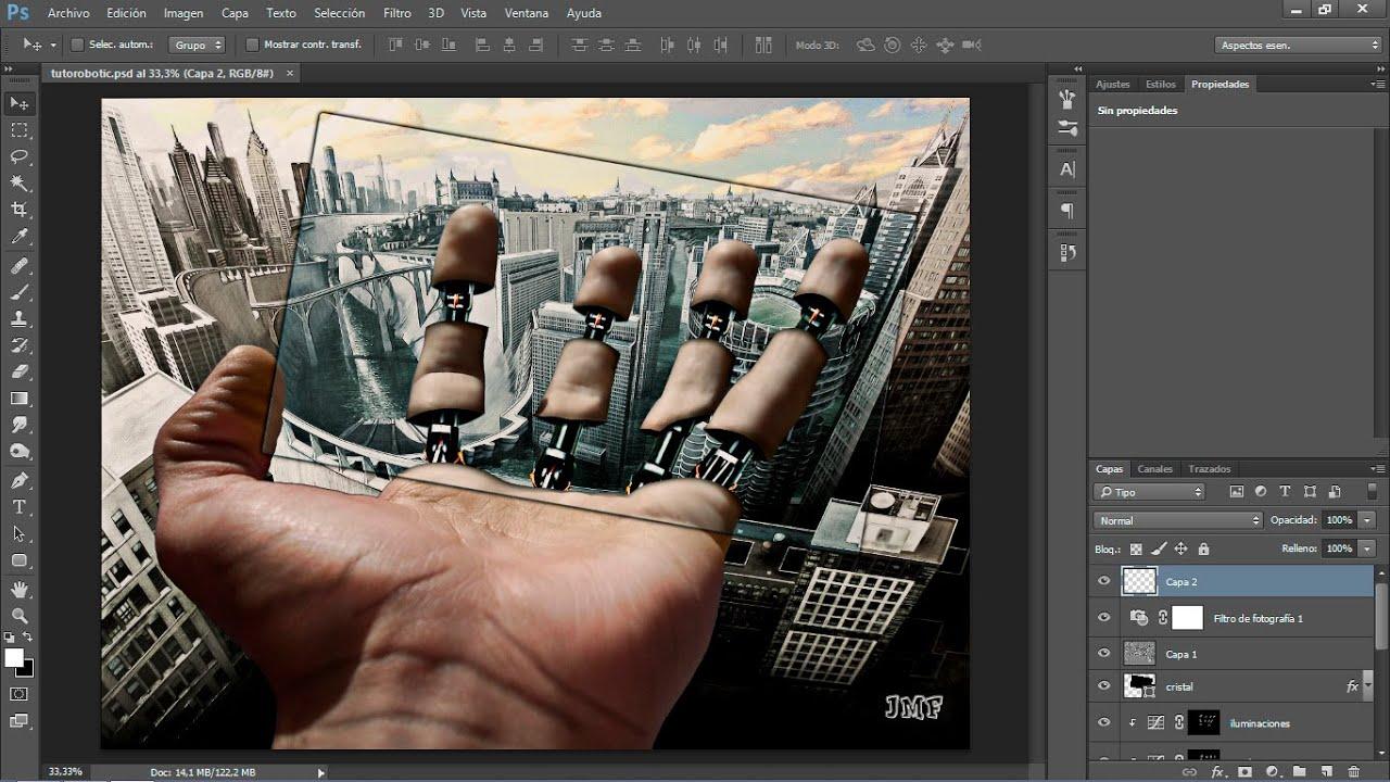 Composici n robotic photoshop cc 2014 youtube - Composiciones de fotos ...