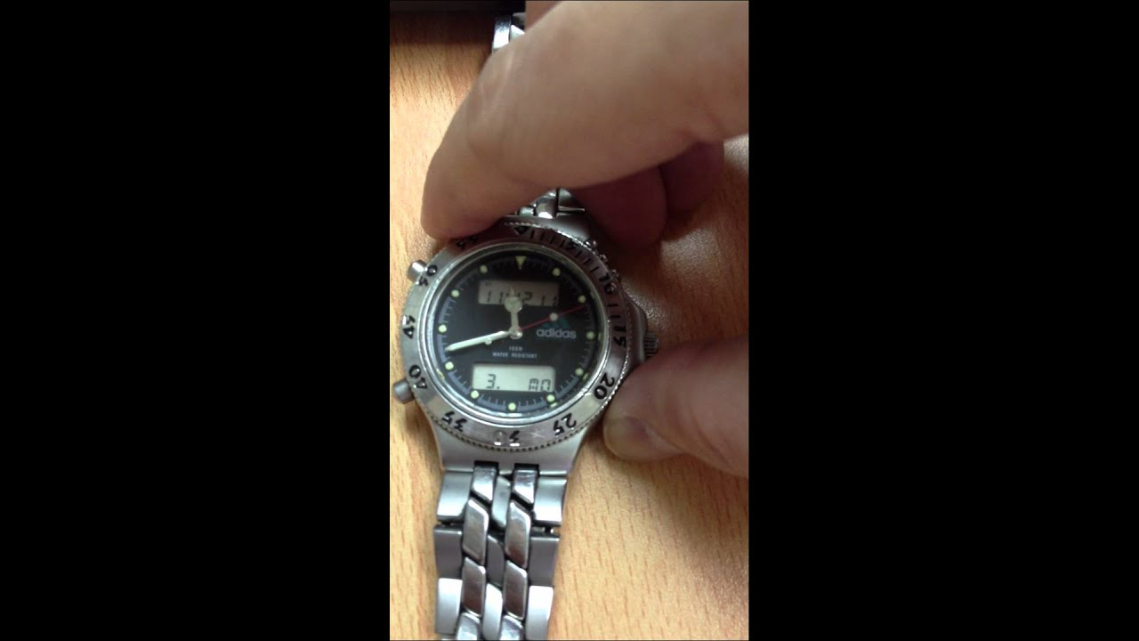 how to set time on adidas watch