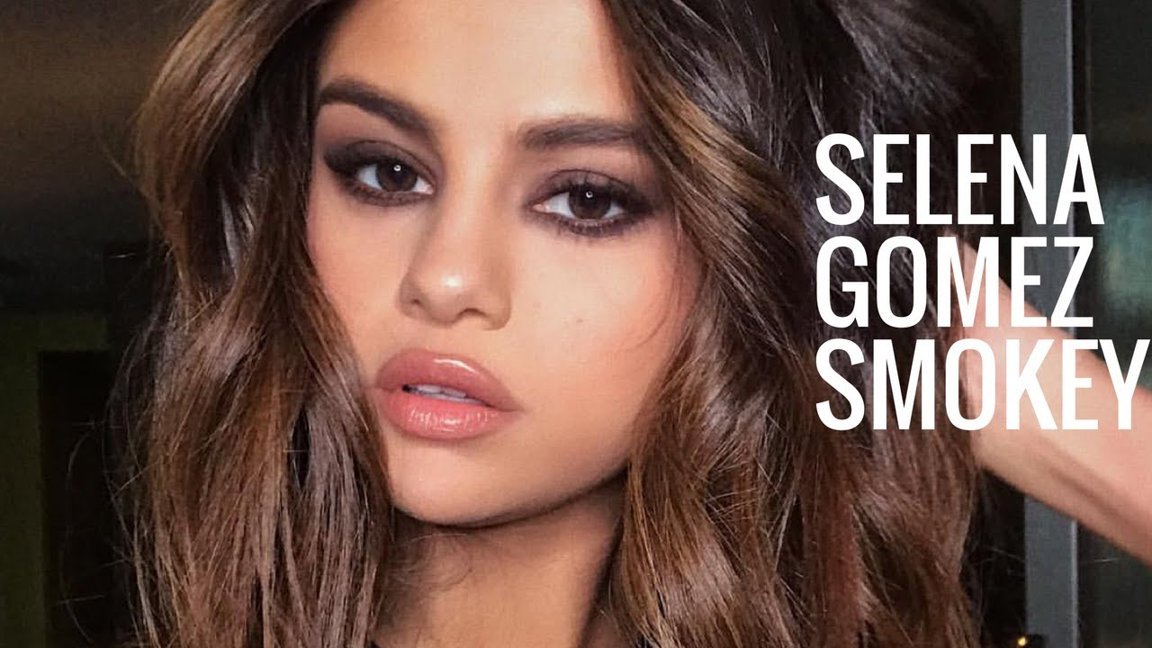 Selena Gomez Makeup Tutorial Smokey Eye Nude Lips Youtube