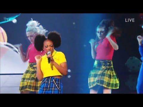 Rai-Elle Williams sings & raps Mr Big Stuff Full Clip  Live Show Week 4 Quarter Finals X Factor 2017
