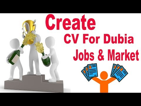 How to Make Professional CV & Resume for Dubai Jobs or Market