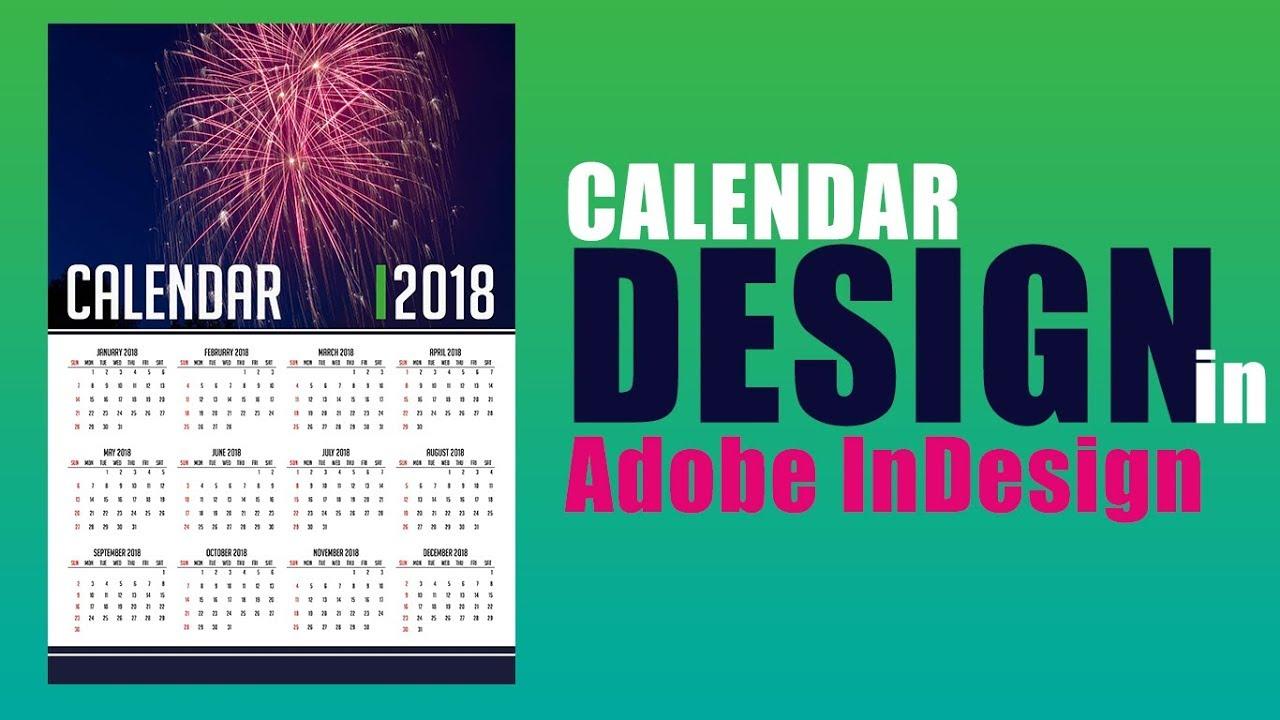2018 calendar how to design calendar in adobe indesign. Black Bedroom Furniture Sets. Home Design Ideas
