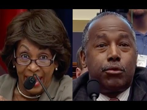 Maxine Waters Makes Ben Carson Want to Jump Out of His Skin!